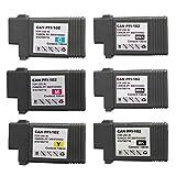 OGUAN キャノン CANON PFI-102 互換インクカートリッジ インクタンク 6個セット インクカートリッジ iPF シリーズ対応 対応機種: imagePROGRAF iPF500 iPF655 iPF700 iPF710 iPF720 iPF750 iPF755 iPF760 iPF765 iPF510 iPF510plus iPF600 iPF605 iPF605Lplus iPF610 iPF610plus iPF650