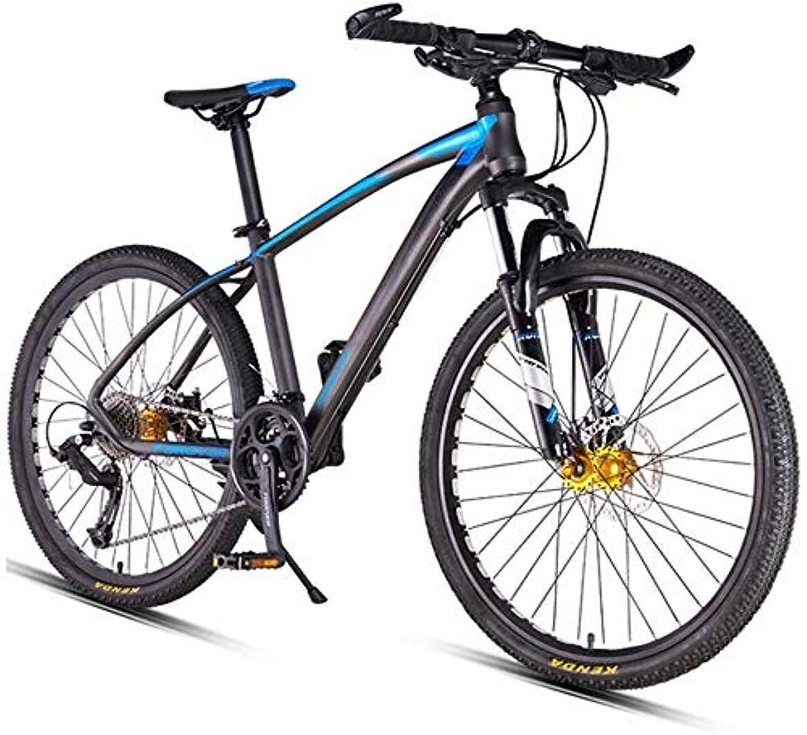 限定買い手ポーターH-ei 26インチ27スピードマウンテンバイク、デュアルディスクブレーキハードテイルマウンテンバイク、メンズ女性アダルト全地形型マウンテンバイク、調節可能なシート&ハンドルバー (Color : Blue)