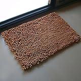 S&D 玄関 マット 屋内 吸水 ドアマット 屋外 泥落とし 北欧 カーペット 洗える 滑り止め 可愛い おしゃれ らぐ 厚手の絨毯 防カビ 40x60cm コーヒー (40x60, コーヒー)