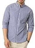 (アーケード) ARCADE メンズ カジュアルシャツ 7分袖 シャツ ボタンダウンシャツ トップス 柄シャツ L 1-ホワイト/ブルー(ギンガムチェック)