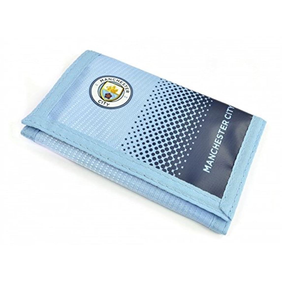 悪性腫瘍バラエティカーテンマンチェスター?シティ フットボールクラブ Manchester City FC オフィシャル商品 サッカー 財布 ウォレット (ワンサイズ) (ライトブルー/ネイビー)