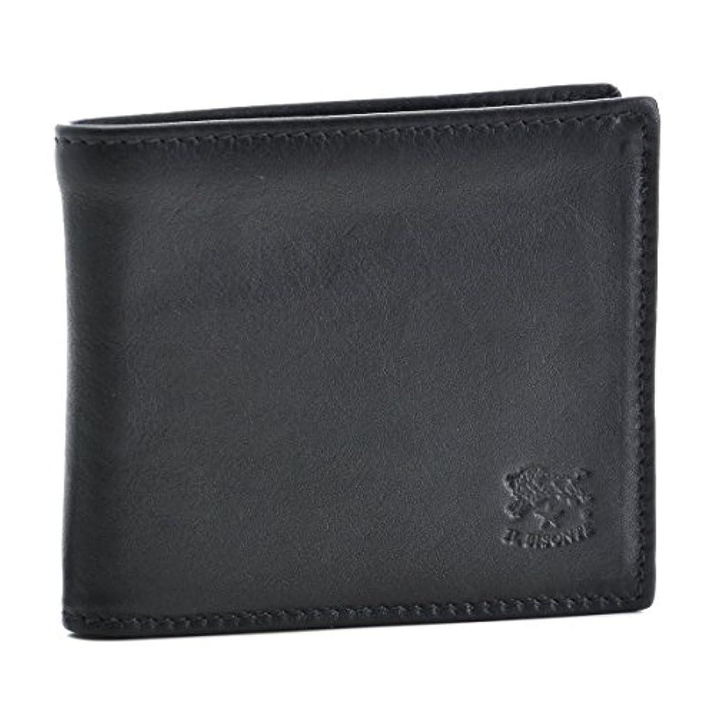 反響する頭訪問IL BISONTE(イルビゾンテ) 財布 メンズ カーフスキン 2つ折り財布 ブラック C0487-MPO-798 [並行輸入品]