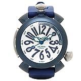 (ガガミラノ) GAGA MILANO ガガミラノ 時計 メンズ GAGA MILANO 5043-BLURUBBER DIVING ダイビング48MM 自動巻き 腕時計 ウォッチ ホワイト/ブルー [並行輸入品]