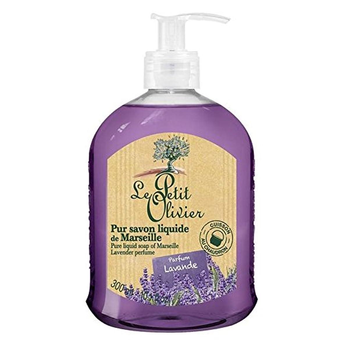 里親事故母マルセイユのル?プティ?オリヴィエ純粋な液体石鹸、ラベンダー300ミリリットル x4 - Le Petit Olivier Pure Liquid Soap of Marseille, Lavender 300ml (Pack of 4) [並行輸入品]