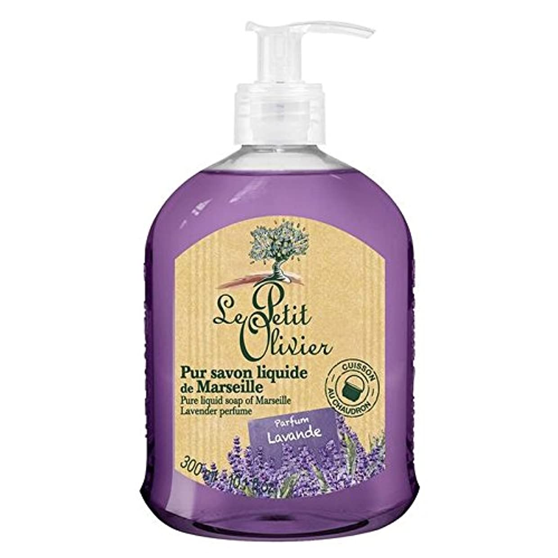 苦痛流行舗装マルセイユのル?プティ?オリヴィエ純粋な液体石鹸、ラベンダー300ミリリットル x4 - Le Petit Olivier Pure Liquid Soap of Marseille, Lavender 300ml (Pack of 4) [並行輸入品]