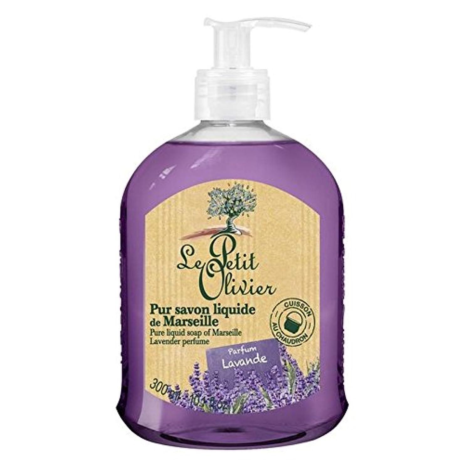 略奪疼痛スリーブマルセイユのル?プティ?オリヴィエ純粋な液体石鹸、ラベンダー300ミリリットル x4 - Le Petit Olivier Pure Liquid Soap of Marseille, Lavender 300ml (Pack...