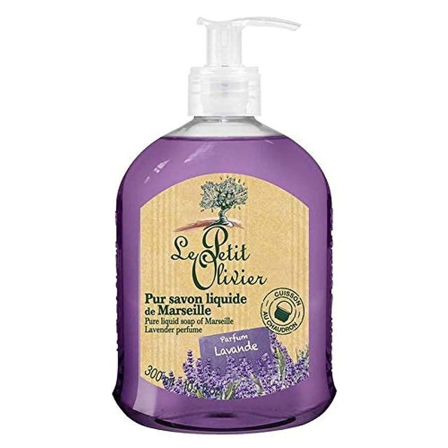餌オーバーヘッドスタイルマルセイユのル?プティ?オリヴィエ純粋な液体石鹸、ラベンダー300ミリリットル x4 - Le Petit Olivier Pure Liquid Soap of Marseille, Lavender 300ml (Pack of 4) [並行輸入品]