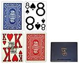 Copag PokerサイズMagnumインデックストランプブルーレッドセットアップ)