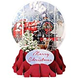 3d Pop Up Christmas Snow Globe – Santa 's Express – # up-wp-sgm-027