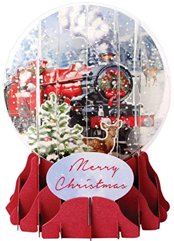 3d Pop Up Christmas Snow Globe – Santa 's Express – # up-wp-sgm-027