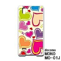 MONO MO-01J (docomo) スマホケース カバー ハート RB-183C
