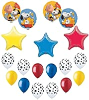 SNOOPY Dog Woodstock PEANUTS PUPPY 17 Party Mylar Latex Colourful BALLOONS Set
