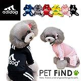 【adidog】【アディドッグ】犬用 つなぎパーカー 犬服 ドッグウェア  サイズ XS/S/M/L/XL/XXL 3COLORS M,ブルー