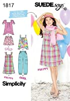 Simplicity SUEDE Says Pattern 1817 Girls Plus Dress or Top Pants and Shorts Sizes 8 1/2-16 1/2 [並行輸入品]