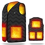 Latest version Heating vest Five heaters Adjustable size USB rechargeable electric heating vest Three-stage temperature control Electric heating jacket Heat insulation Winter protection Heavy snowfall measures Unisex Unisex commuting / outdoor work / travel / skiing / skating / climbing / fishing / hiking / physiology Suitable for coldness Washable Skin-friendly fashionable