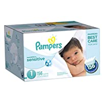 Pampers Swaddlers Sensitive Diapers Size 1, 156 Count by Pampers