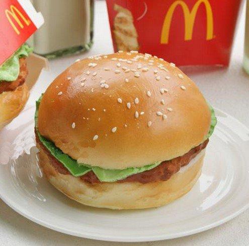 Treasure Mart  食べないで下さい!どこから見ても本物みたい リアルサイズ ハンバーガー型 リストレスト キーボードクッション