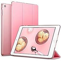 iPad Mini ケース クリア ESR iPad Mini2 ケース レザー PU iPad Mini3 ケース 軽量 スタンド機能 傷つけ防止 オートスリープ ハード三つ折 iPad Mini3/2/1(初代第二三世代)専用スマートカバー(スウィートピンク)