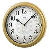 MAG(マグ) 掛け時計 電波 アナログ いろは 連続秒針 直径約31.3cm ナチュラル W-755N