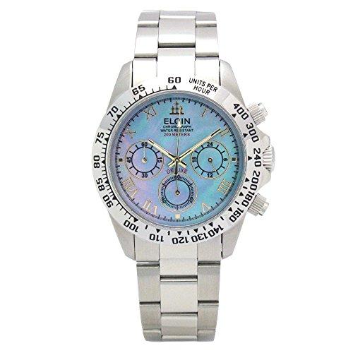 [エルジン]ELGIN 腕時計 200M防水 ブルーシェル ...