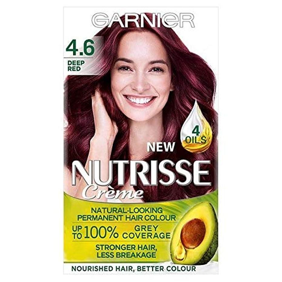 カートン創始者患者[Garnier ] 4.6深い赤ガルニエNutrisseパーマネントヘアダイ - Garnier Nutrisse Permanent Hair Dye Deep Red 4.6 [並行輸入品]