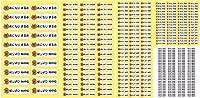 Biijo お名前シール おなまえシール ネームシール 入学 入園 シンプル パステルカラー どうぶつシール 縦横混合 スタンダードサイズ5種類・縦書き横書き合計336枚 (4.ねこ×きいろ)
