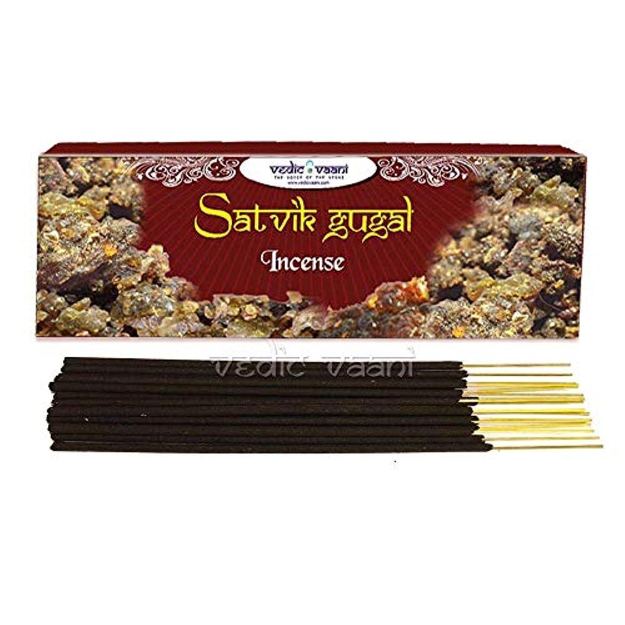寛大な乱闘符号Vedic Vaani Satvik Gugal Dhoop Hand Rolled Spiritual Perfume Gugal Fragrance Agarbatti Incense Sticks for Offering...