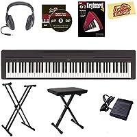 Yamaha P-45 Digital Piano - Black Bundle with Stand Bench Headphones Instructional Book Austin Bazaar Instructional DVD Polishing Cloth [並行輸入品]