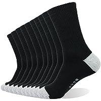 PlusAg 10P Pack Men's Cotton Moisture Wicking Extra Heavy Cushion Crew Socks