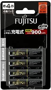 富士通 ニッケル水素電池(高容量タイプ) 単4形 1.2V 4個パック 日本製 HR-4UTHC(4B)