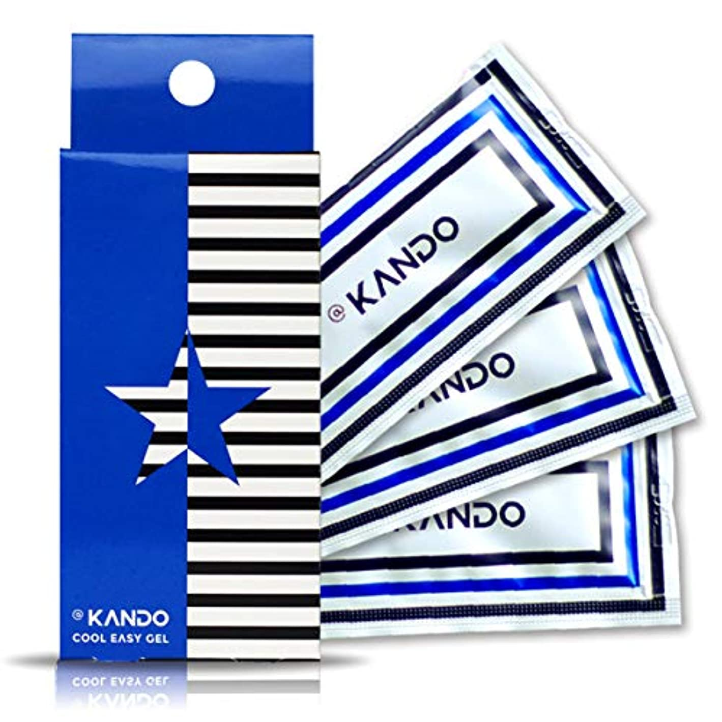 @KANDO アットカンドクールイージージェル(ボディマッサージジェル)5g×3包入 冷感タイプ