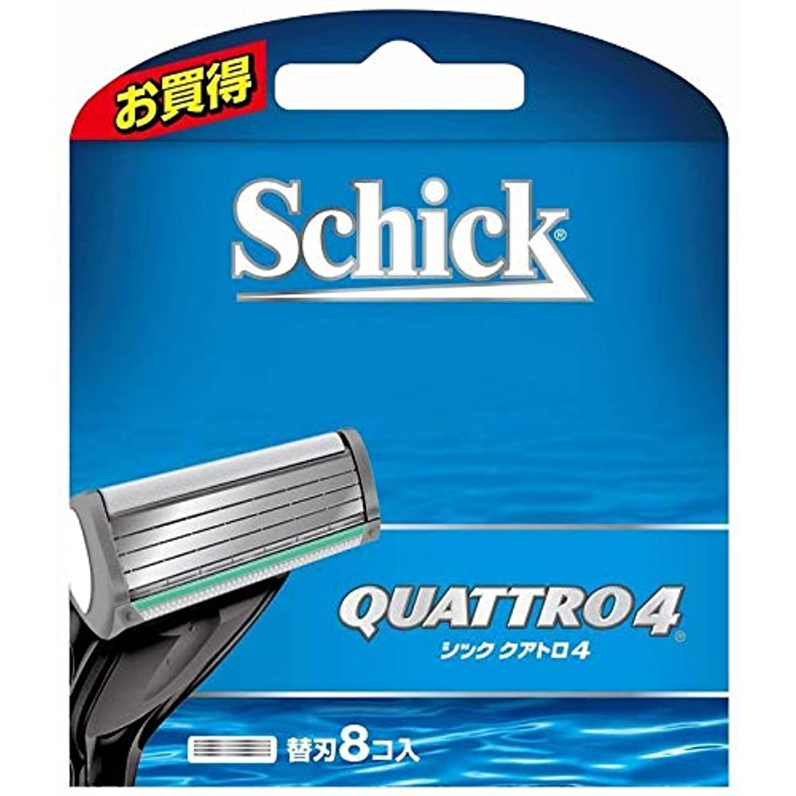 範囲言い直す倫理シック クアトロ4 替刃 (8コ入) 男性用カミソリ 2個セット