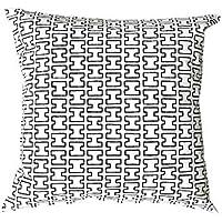 安心の国内縫製 artek(アルテック) クッションカバー 45×45cm H55 ホワイト ブラック