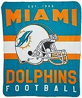NFLユニセックスNFL Singular 50インチを60インチPrinted Fleece Throw