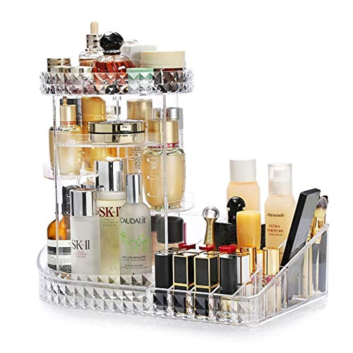 差し引く毒からかうNianor コスメ収納 化粧品収納 回転 メイクボックス 透明 超大容量 コスメ収納ボックス コスメボックス アクリル 化粧道具入れ