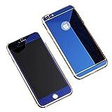 TaoTech iPhone用 ガラスフィルム 液晶保護 鏡面ミラー 3Dガラスフィルム 全面フルカバー(iphone6/6s, ブルー)