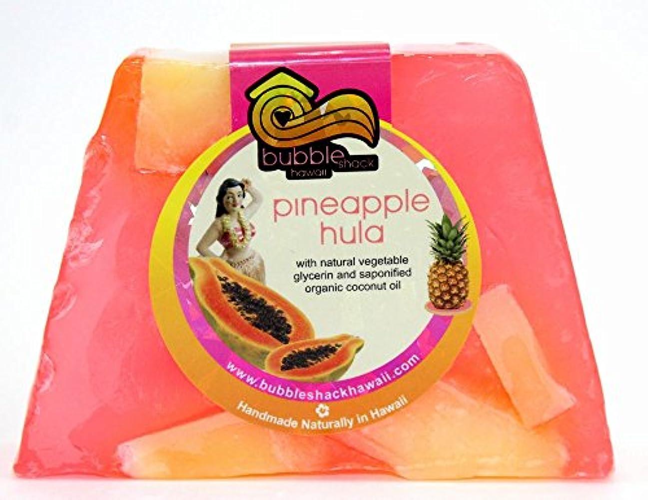 音節驚きメッシュハワイ お土産 ハワイアン雑貨 バブルシャック パイナップル チャンクソープ 石鹸 (フラ) ハワイ雑貨