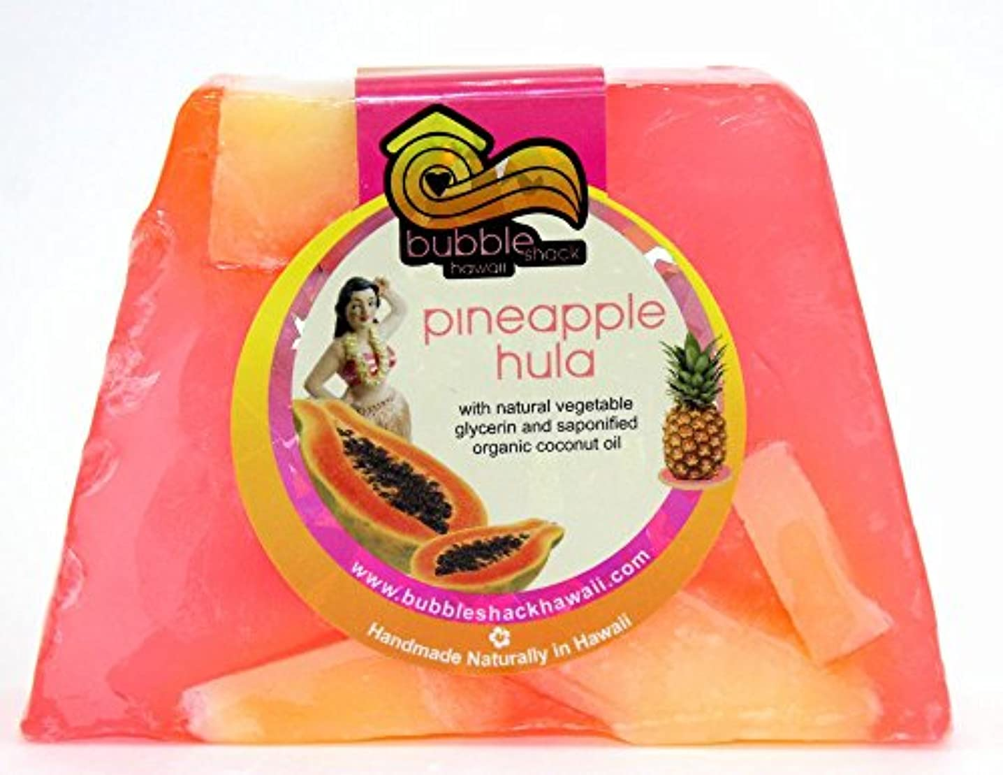 討論楽しむマイクハワイ お土産 ハワイアン雑貨 バブルシャック パイナップル チャンクソープ 石鹸 (フラ) ハワイ雑貨