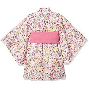 [タキヒヨー] 水彩花柄浴衣風ワンピース 342447209 ガールズ ピンク 日本 95 (日本サイズ95 相当)