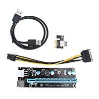 USB 3.0PCI Express PCI - E Express 1Xライザーエクステンダーライザーカードアダプタwith 15pin SATA to 6ピン電源ケーブルfor BTC・マイニング