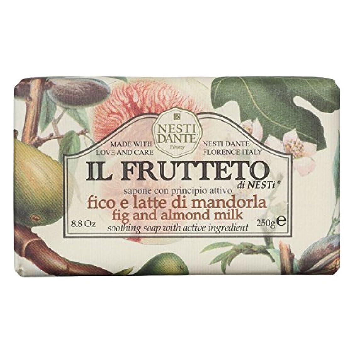 リーフレット文字洗うネスティダンテ (Nesti Dante) フルッテートソープ フィグ&アーモンドミルク 250g