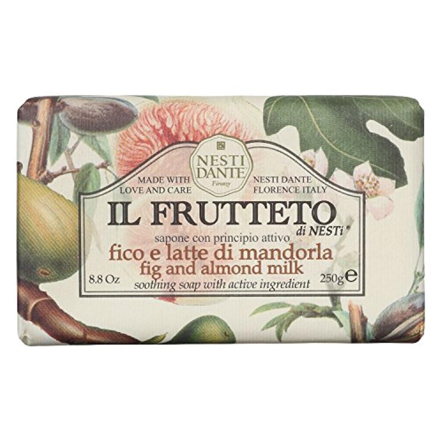 払い戻しタール刺繍ネスティダンテ (Nesti Dante) フルッテートソープ フィグ&アーモンドミルク 250g