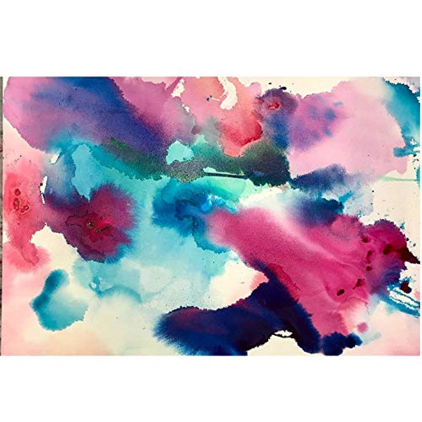 オーストラリア単調な傾向がある抽象アート水彩写真キャンバス絵画壁アート用リビングルームカラフルなポスターとプリント60×90センチなしフレーム