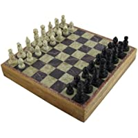 Unique Stone Chess Sets and Board with Storage Box 12 Inches X 12 Inches