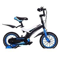 自転車 子供用マウンテンバイク(補助ホイール付き)男性と女性12インチ14インチ16インチダークブルー (サイズ さいず : 14 inch)