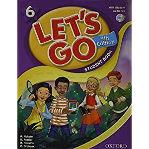 Lets Go 4th Edition Level 6 Student Book with Audio CD Pack (Let's Go)