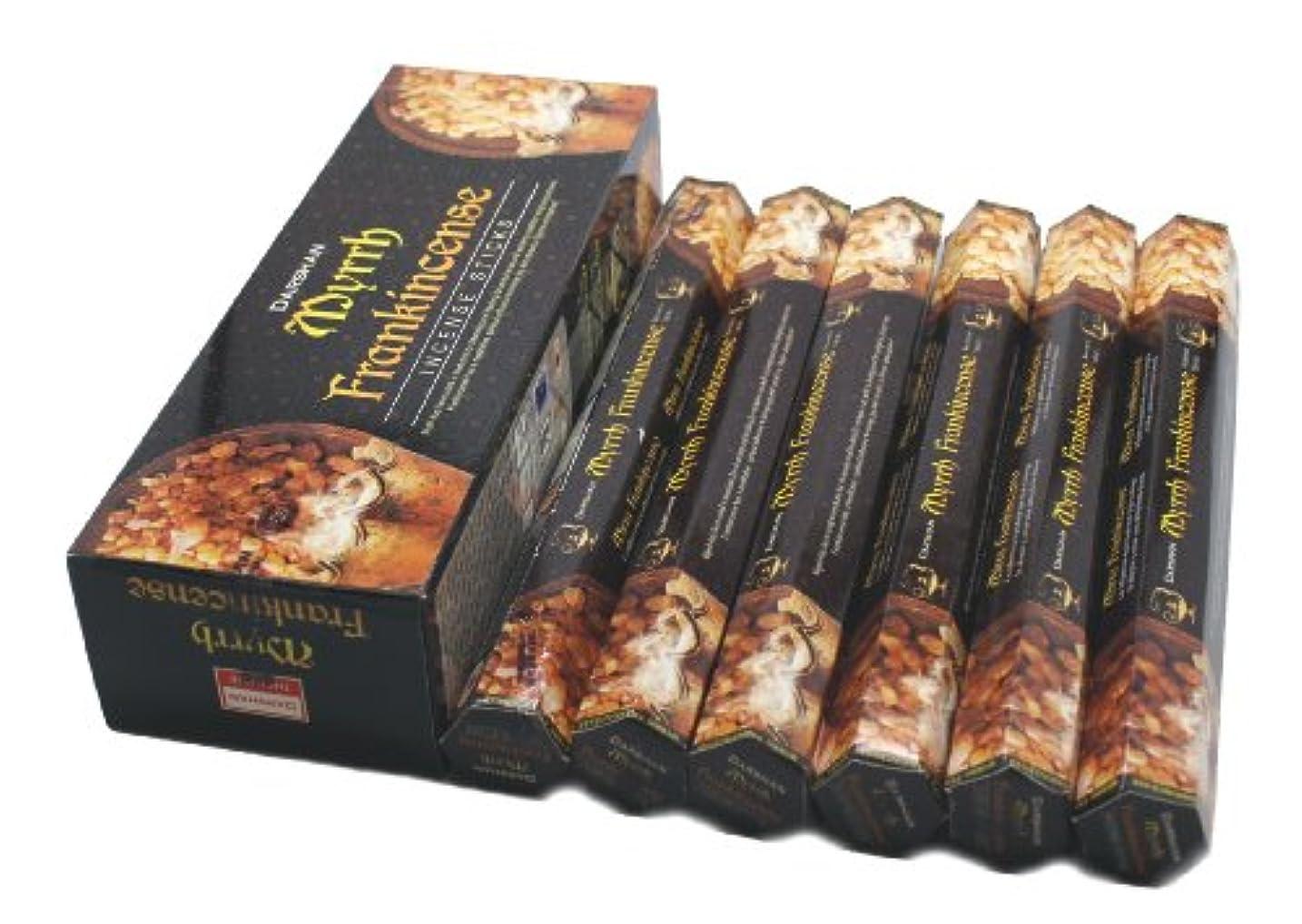 被害者売るヒューズFrankincense & Myrrh - 120 Sticks Box - Darshan Incense