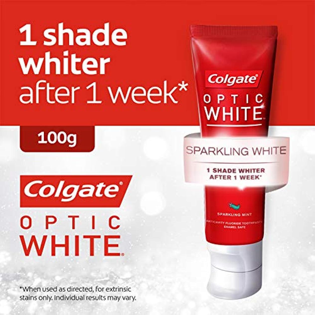 アクセサリーボーダー顎コールゲート オプティック ホワイト スパークリングシャイン 100g 歯磨き粉 Colgate Optic White Sparkling Shine 100g Tooth Paste