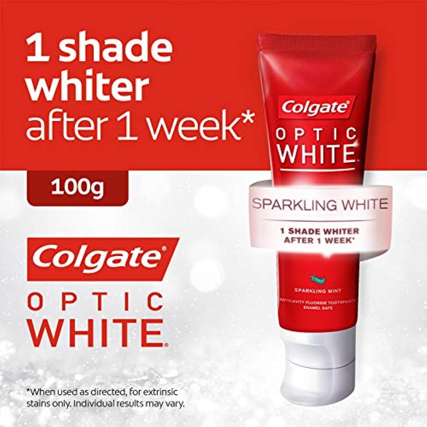 少年カメ自殺コールゲート オプティック ホワイト スパークリングシャイン 100g 歯磨き粉 Colgate Optic White Sparkling Shine 100g Tooth Paste