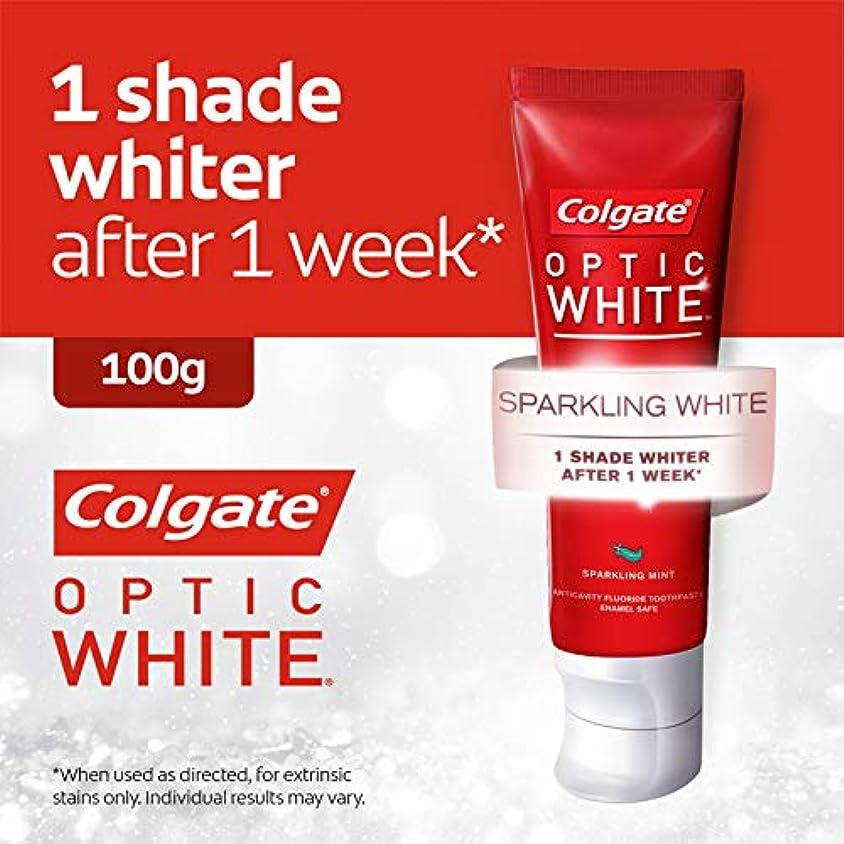 実装する虚栄心リスナーコールゲート オプティック ホワイト スパークリングシャイン 100g 歯磨き粉 Colgate Optic White Sparkling Shine 100g Tooth Paste